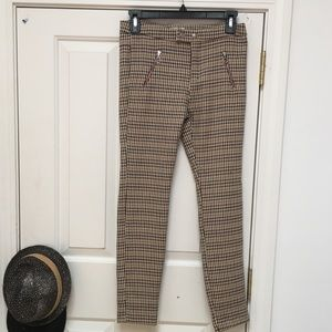 Zara Petite Houndstooth Pants